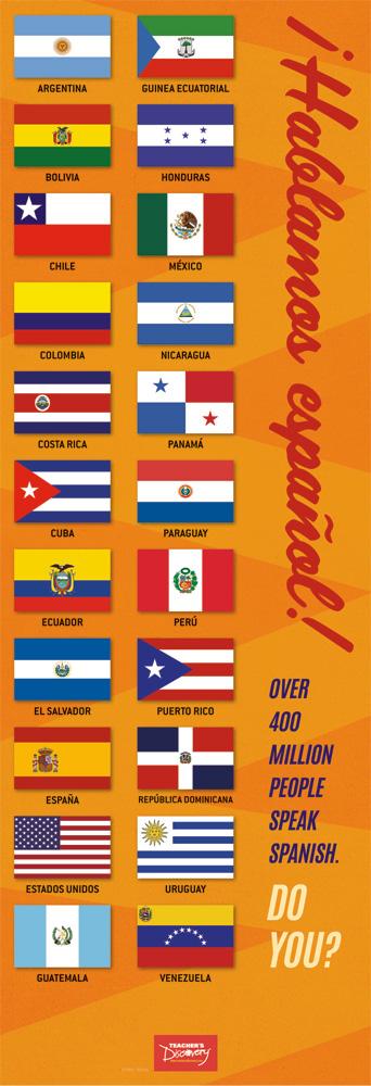 We Speak Spanish Flags