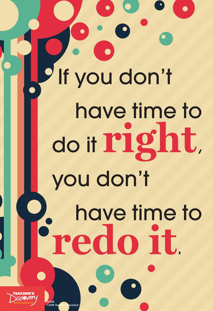 Do it Right Mini-Poster