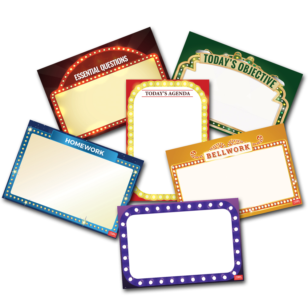 Essential Classroom English Dry-Erase Posters - Set of 6