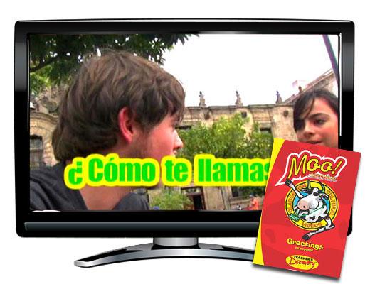Moo!™ Greetings Spanish Video
