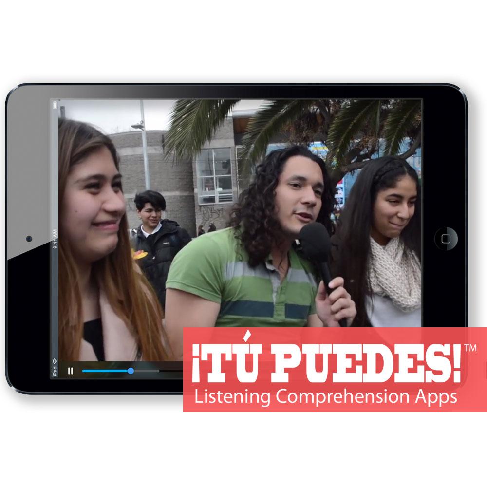 Listening Comprehension App for Digital Learning: Three Nationalities Flirting