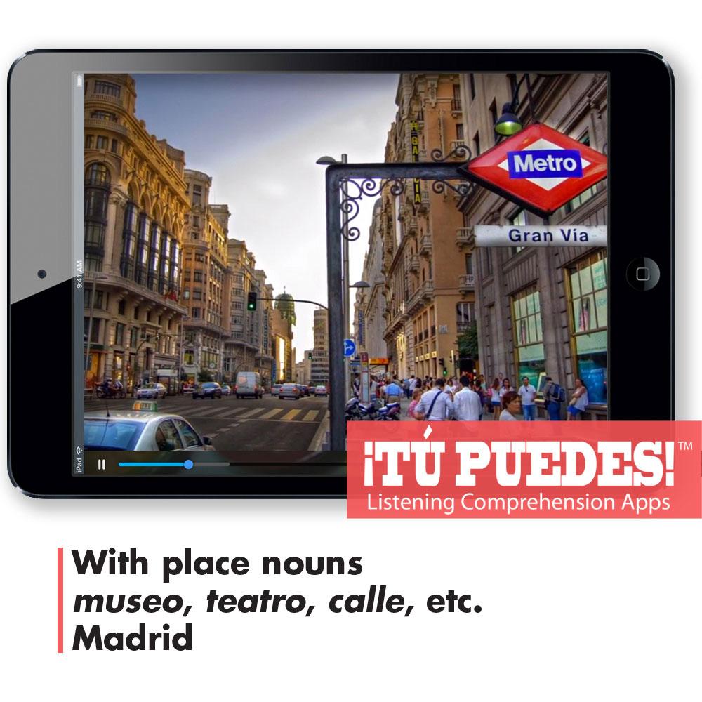 Listening Comprehension App for Digital Learning: Madrid Tour - Hybrid Learning Resource