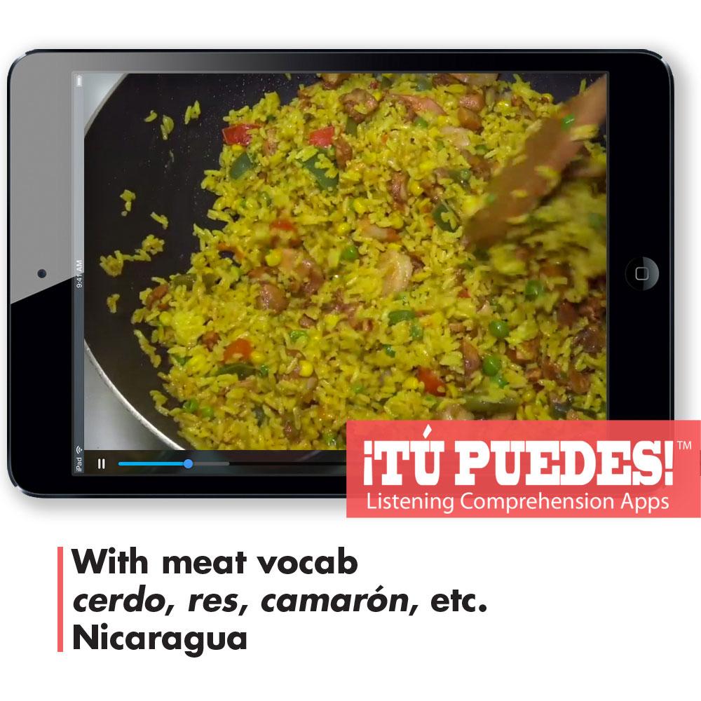 Listening Comprehension App for Digital Learning: Preparing Meats - Hybrid Learning Resource