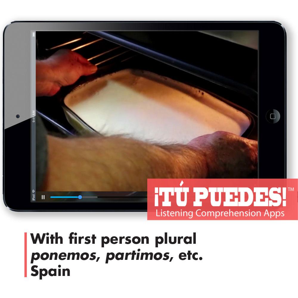 Listening Comprehension App for Digital Learning: Making Spanish Flan - Hybrid Learning Resource