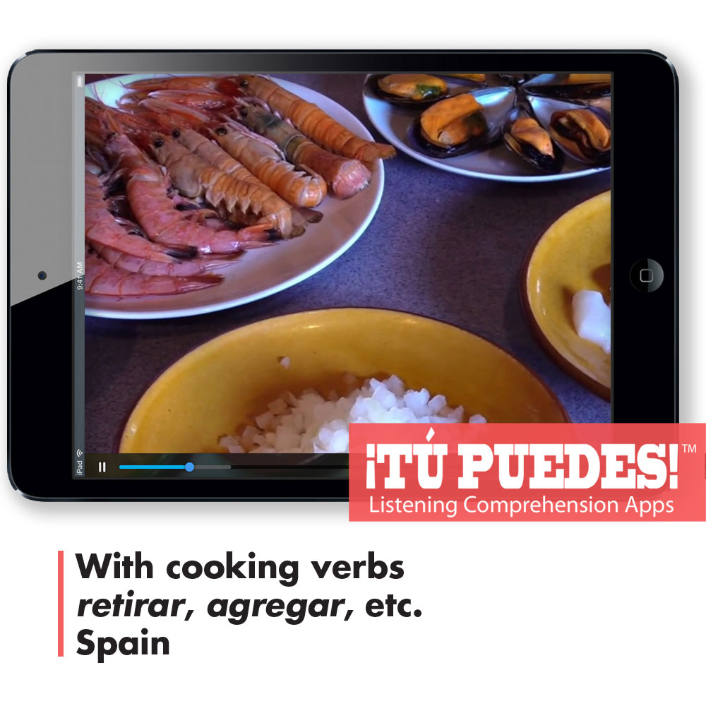 Listening Comprehension App for Digital Learning: Making Paella - Hybrid Learning Resource