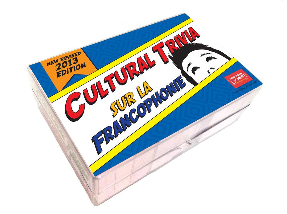 Cultural Trivia Sur la Francophonie Game - Cultural Trivia Game Sur la Francophonie Game Cards