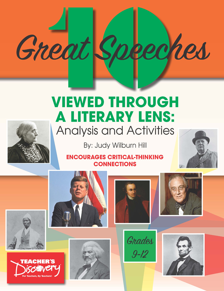 10 Great Speeches Viewed Through a Literary Lens: Analysis and Activities Book