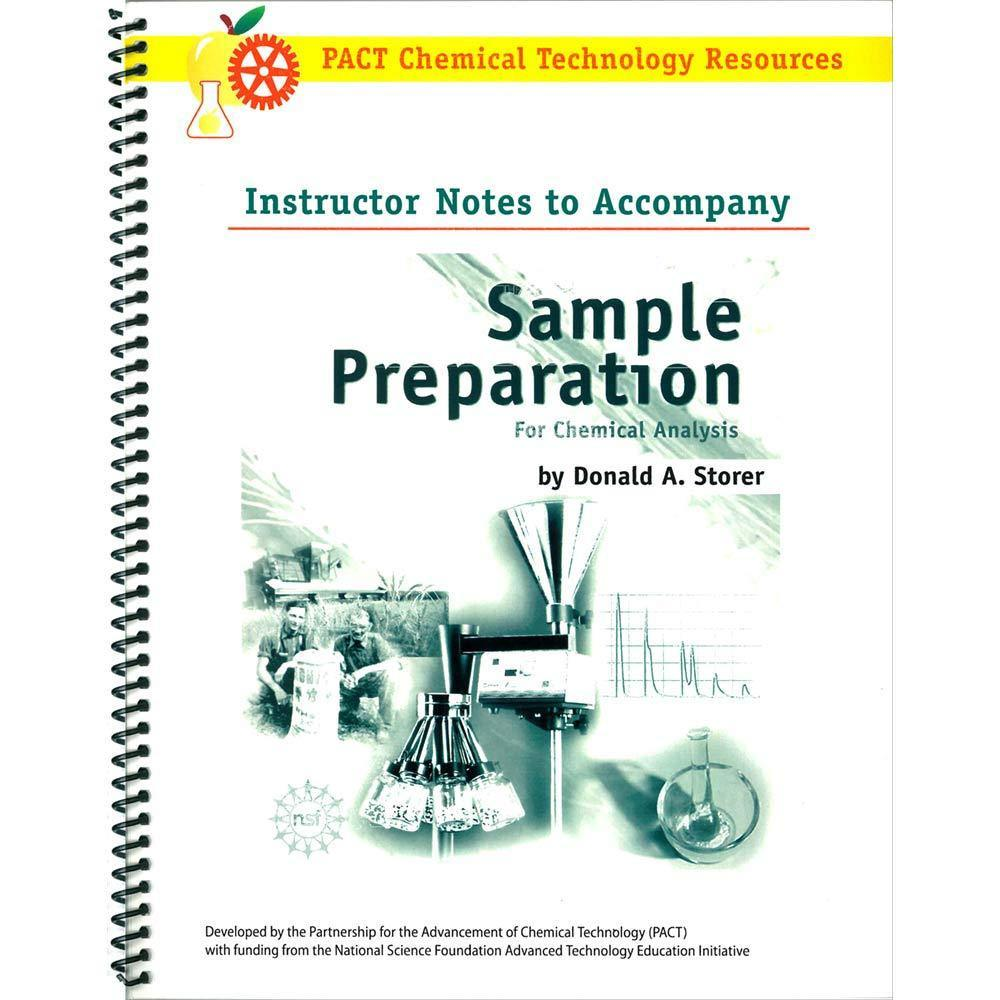 Sample Preparation for Chemical Analysis: Instructor Set