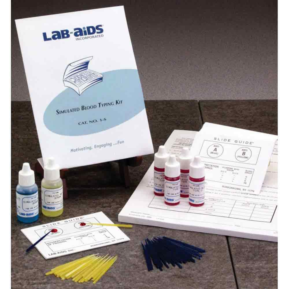 """Simulated """"Blood"""" ABO Typing Class Kit"""