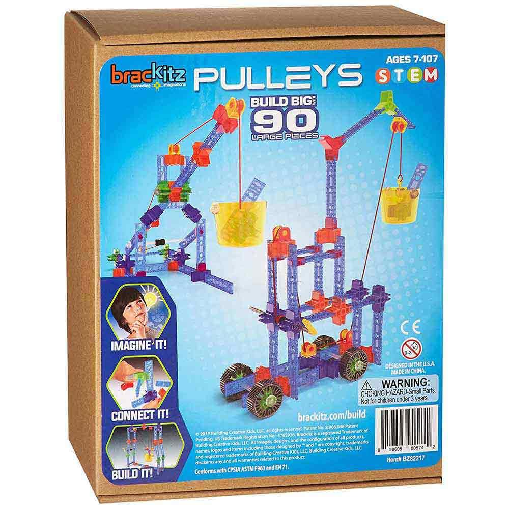 Brackitz Build Big! Simple Machines Pulleys & Wheels 90-Piece Set