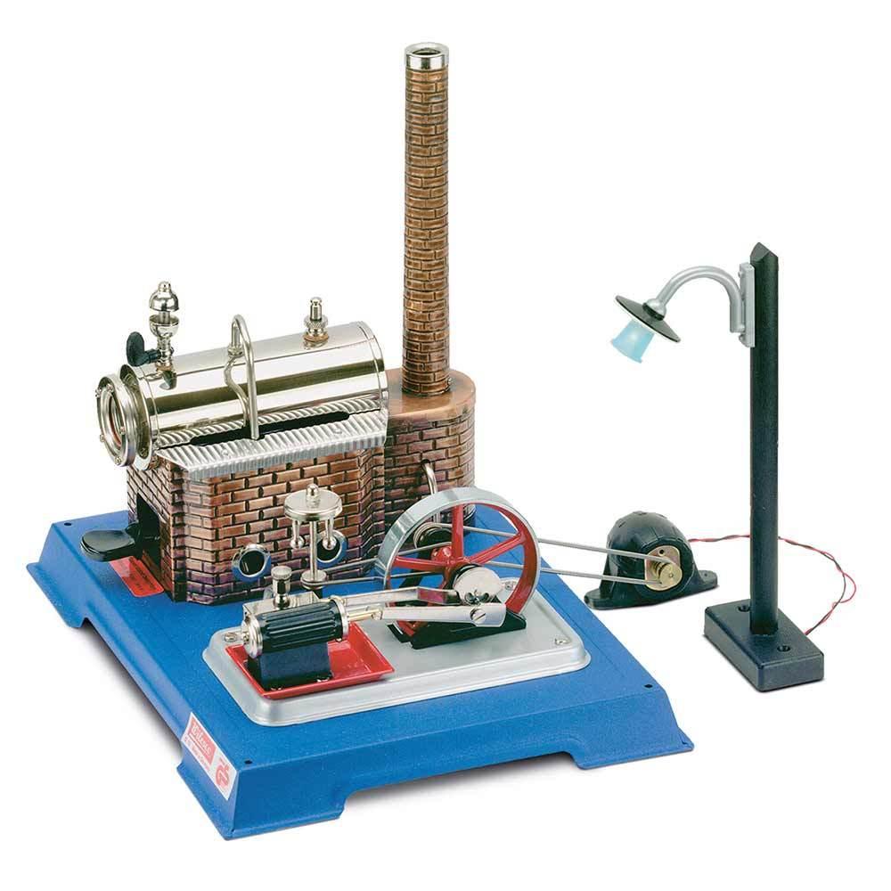 Wilesco D10 Steam Engine with Add-On Generator/Light Kit
