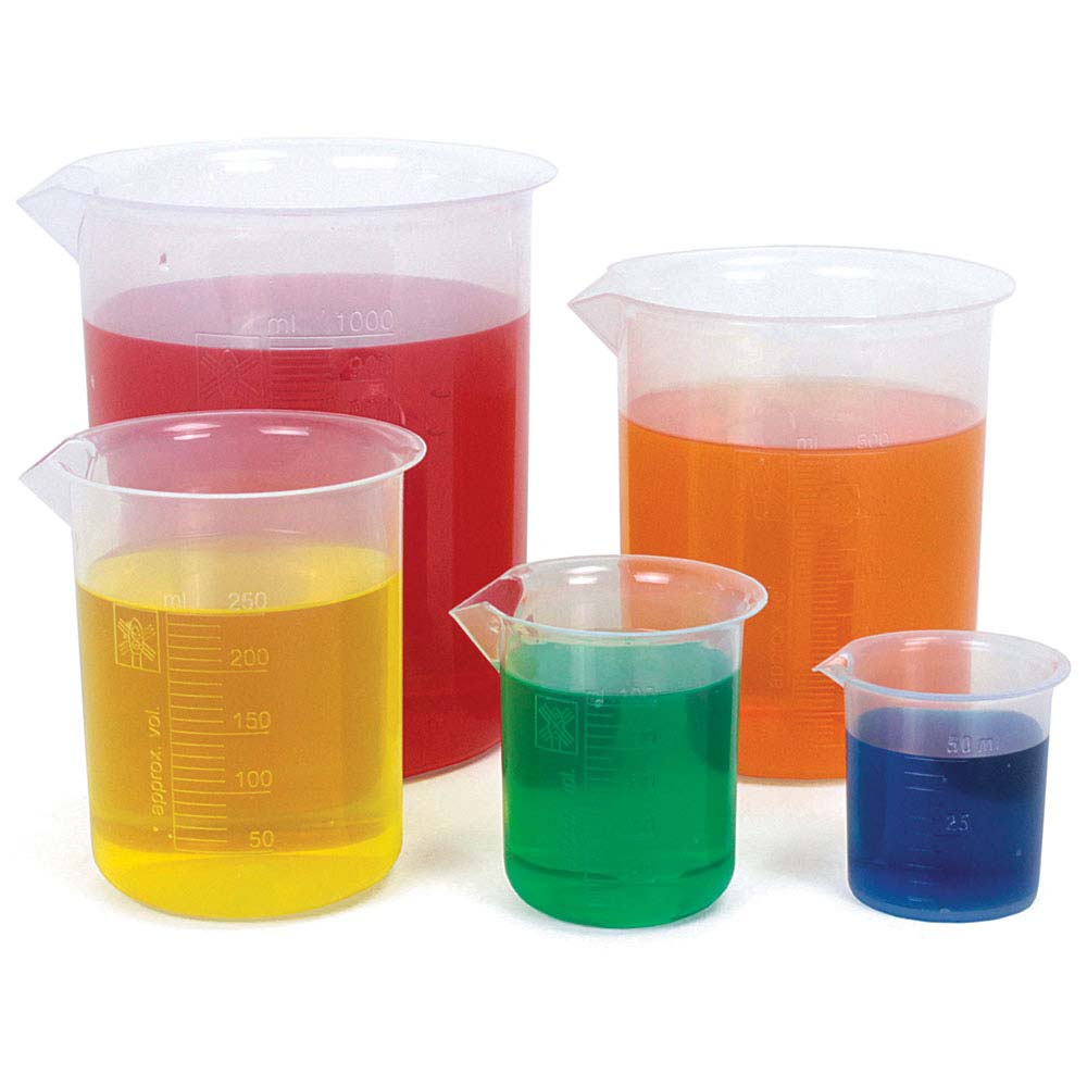 Plastic Beakers Lab Equipment And Safety Educational