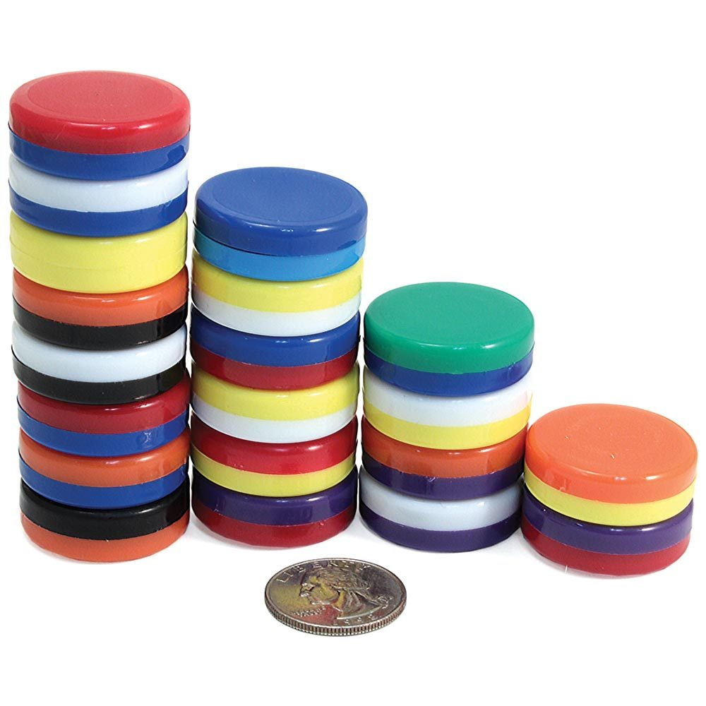 Rainbow Button Magnets