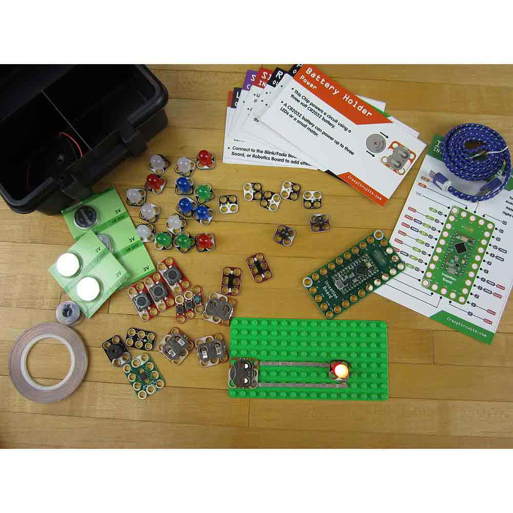 Crazy Circuits Makerspace Kit Educational Home Science Activity Squishy Light Up Your Play Doh