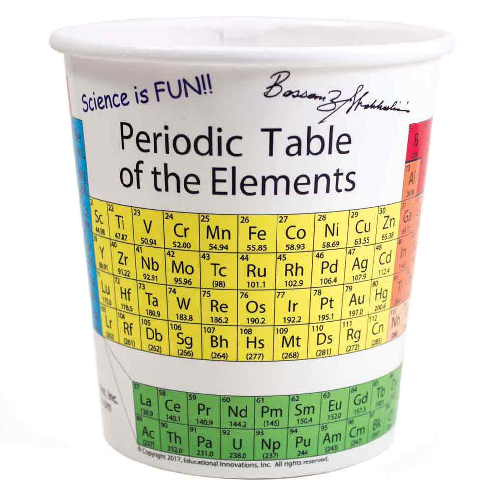 8a57b89a627 Periodic Table Cups, Periodic Tables: Educational Innovations, Inc.