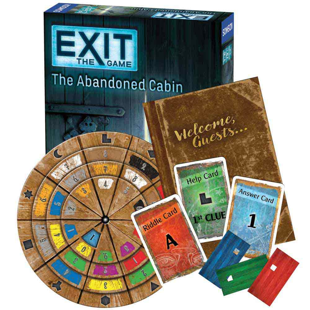image regarding Free Printable Escape Room Game titled Exit: Escape Area Kits