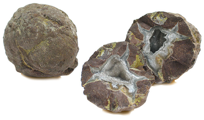 earth science geology geodes for splitting package of 6