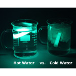hot vs. cold water