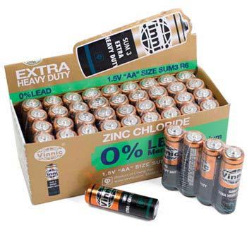AA Heavy Duty Batteries 40/pk