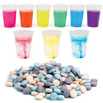 Color Splash Tablets - 200 Assorted Color Splash Tablets