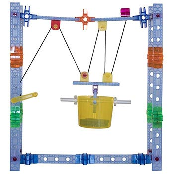 Brackitz Build Big! Simple Machines Pulleys & Wheels 90-Piece Set