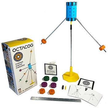 Octacog Balance Construction Toy and Game - Primary Octacog Set