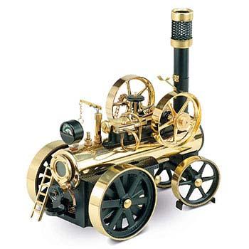 Wilesco Steam Locomobile - D 430 / black & brass