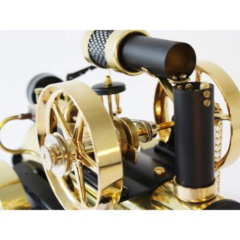 Wilesco Steam Locomobile - D 430 / black & brass