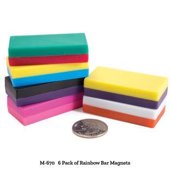 Rainbow Bar Magnets - 6 Pack of Rainbow Bar Magnets