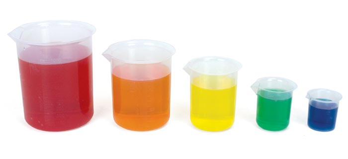 Lab Equipment And Safety Plastic Beakers
