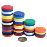 20 Pack of Rainbow Button Magnets