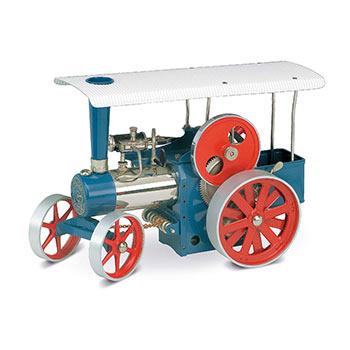 Steam Traction Engine - D 405 / red & blue