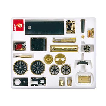 Steam Traction Engine - D 416 / black & brass / kit