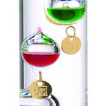 tall galileo thermometer Close-Up