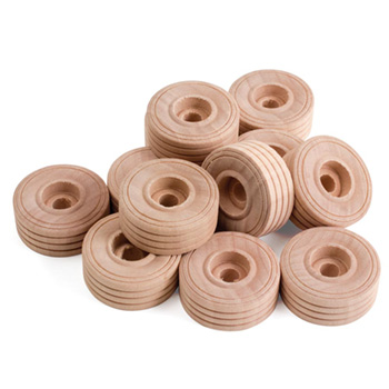 Small Wooden Wheels, 12/pk