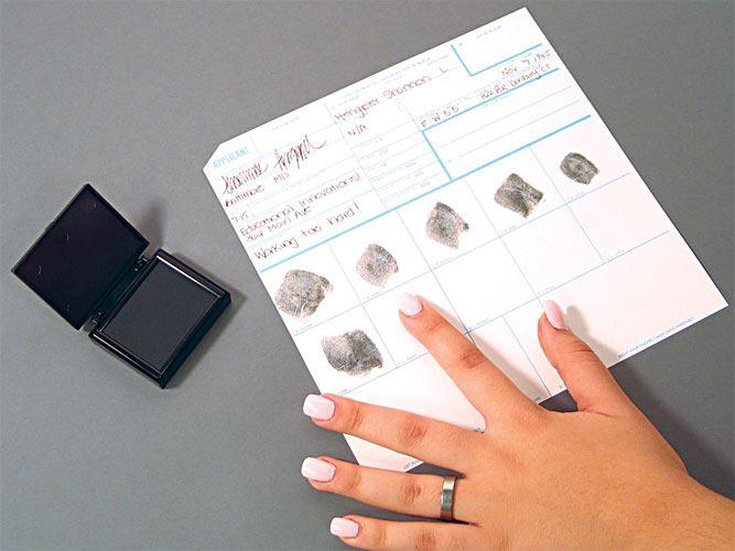 Forensic Science Fingerprint Cards Standard Fbi Applicant 50 Cards