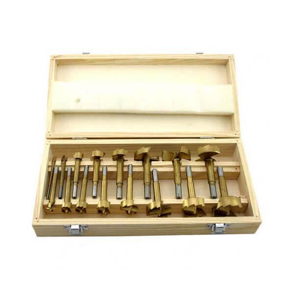 Forstner Bit Set Titanium Drill Bits 16 Piece for Woodworking