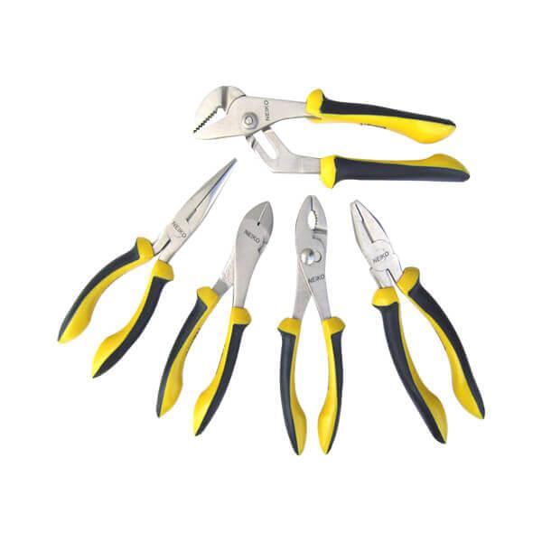 Neiko Tools 5 Piece Nickel Iron # 1 Plier Set 02022A