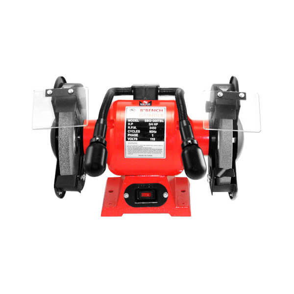 Neiko Tools 8 Inch Dual Lights Bench Grinder 10204A