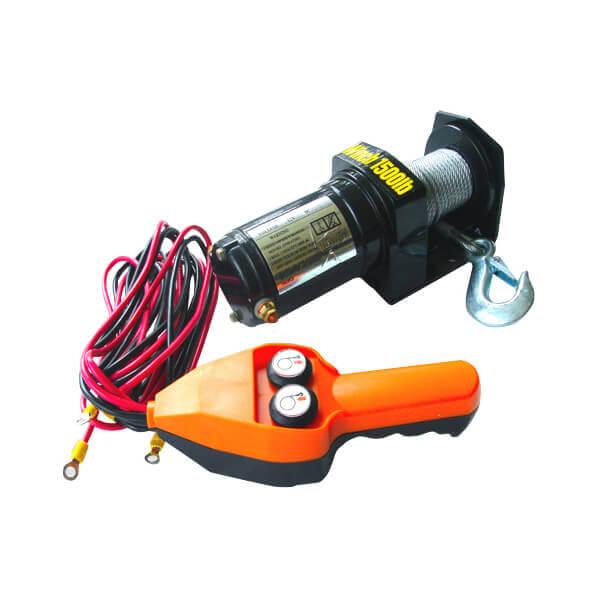 12V Electric Cable Winch 1,500 lb Capacity ATV