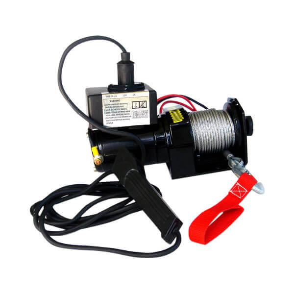 12 V Electric Cable Winch 2,000 lb Capacity ATV
