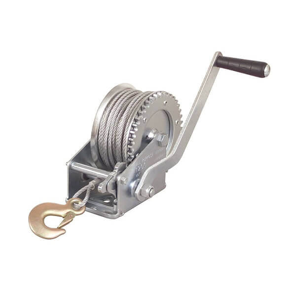Hand Cable Winch 1200 lb Geared