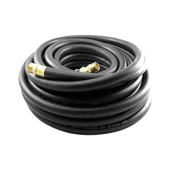 Air Hose 3/8 Inch x 50 Ft Black Rubber