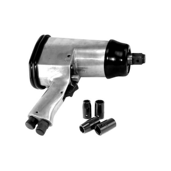 Air Impact Wrench 1/2 Drive Short Shank 4 Sockets 250 ft/lb Torque