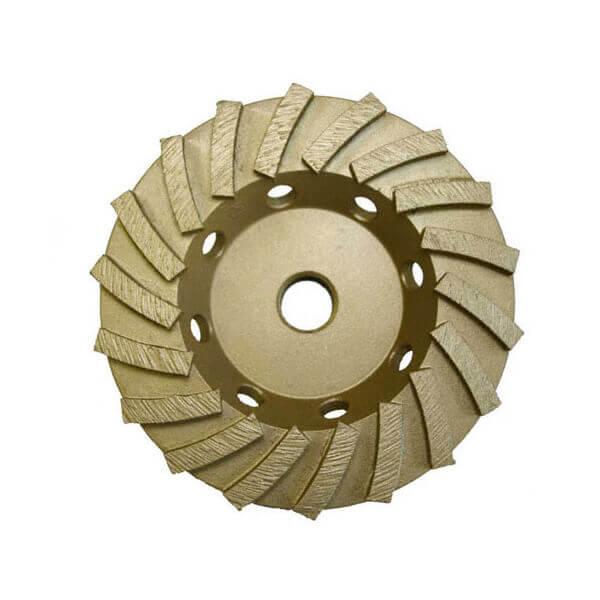 4 1/2 Inch Cup Grinder 9 Turbo Segment 5/8-11 Nut