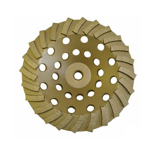 7 Diamond Cup Wheel 24 Turbo Segment 5/8-11 Nut