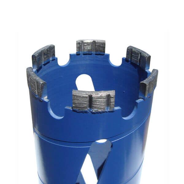 """Core Drill Bit 4"""" Dry Concrete Block Diamond Turbo Segment 5/8"""