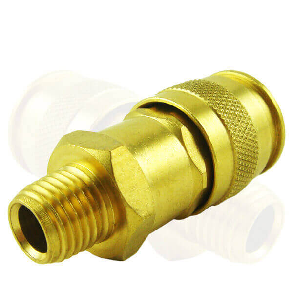 "Neiko 30255A 1/4"" Male Universal Brass Quick Coupler"