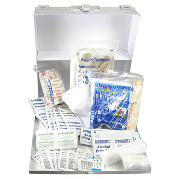 First Aid Kit with Metal Box 208 Pc. 50 Person OSHA