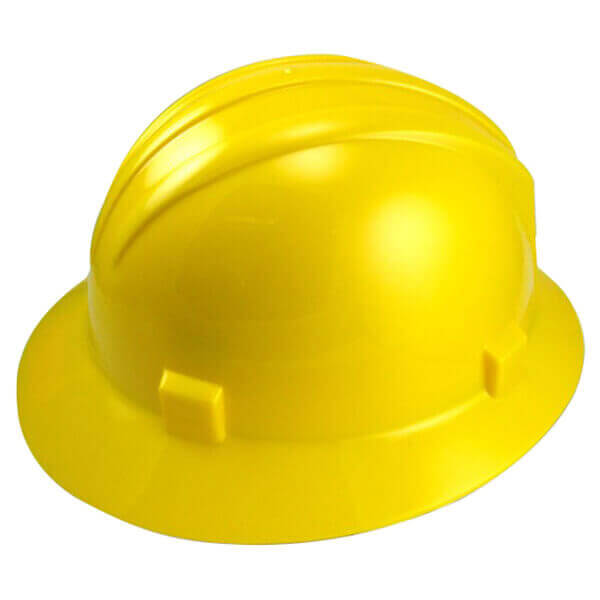 Neiko Tools Full Brim Safety Helmet Hardhat Yellow 53878A